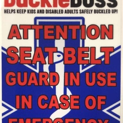 Buckle Boss Emergency Window Sticker